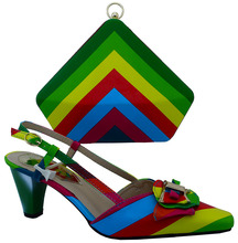 2016 Italian Shoes With Matching Bags For Party High Quality African Shoes And Bags Set for