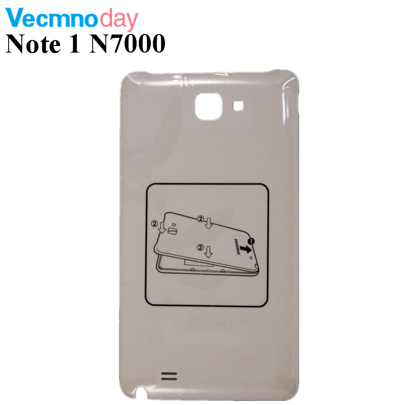 Vecmnoday Note1 N7000 Back Battery Cover Door Housing Case For Samsung Galaxy Note 1 i9220 Mobile Phone Repair Parts Replacement