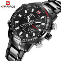 Watches Men Naviforce Brand Fashion Men Military Sports Watches Men S Quartz LED Digital Hour Clock
