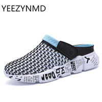 Men S Summer Slippers Shoes Breathable Cool Beach Flip Flops Home Outside Mens Slippers Large Size