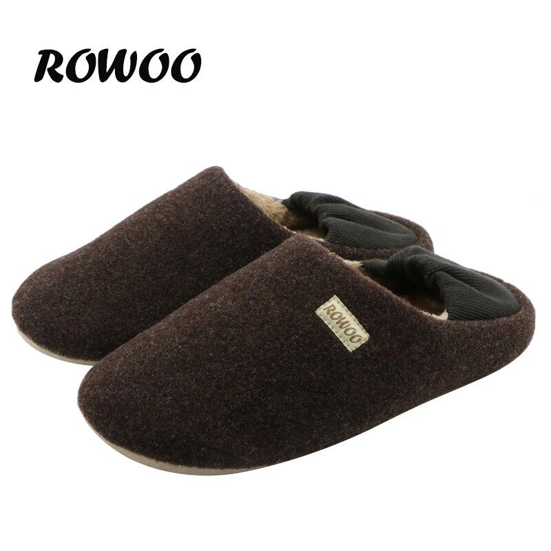 2016 Winter Warm Soft Indoor Floor Slippers Women Men Shoes Woolen Lining Lover Anti-slip Home Cotton Winter Unisex Slippers