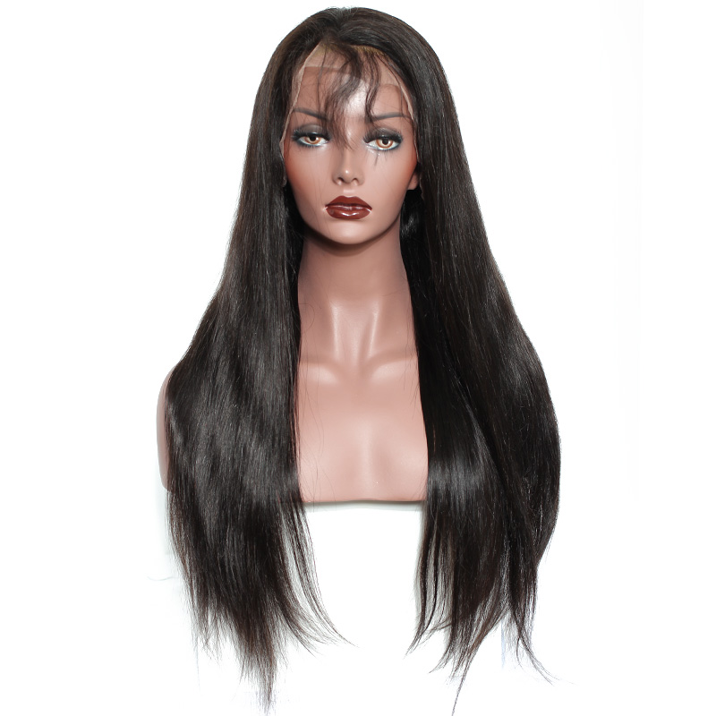 Full Lace Human Hair Wigs For Women 180% Density Brazilian Straight Lace Wig With Baby Hair Black Dolago Remy Pre Plucked