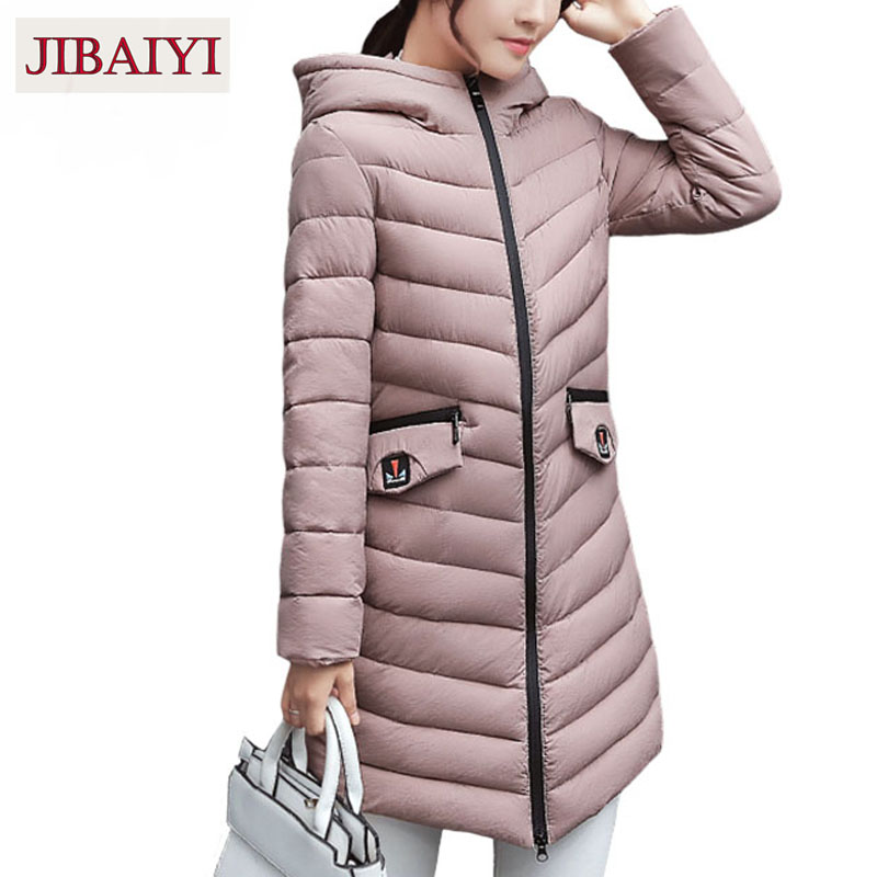 Warm down jacket winter coat 2017 new padded cotton coat hooded woman outerwear thick parka long coat femme new hot sale orange new men winter jacket fashion brand clothing cotton padded down parka male thick warm comfortable outerwear coat hood detachable