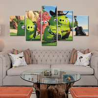 NO FRAME Unframed 5 Piece Cartoon Picture Modern Home Wall Decor Canvas Picture Art HD Print Painting On Canvas Artworks