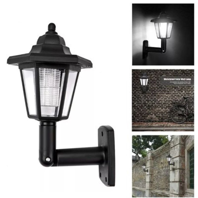 US $5.25 26% OFF|Waterproof Solar Wall Lamp Garden LED Light Cool White on