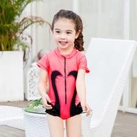 2017 أطفال جديدة ملابس السباحة لطيف طفل واحد قطعة ملابس بجعة نمط بنات الأولاد بدلة السباحة السباحة الأسرة