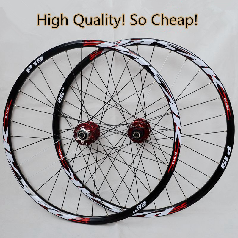 PASAK MTB Mountain Bike Bicycle front 2 rear 4 sealed bearings hub wheel wheelset Rims все цены