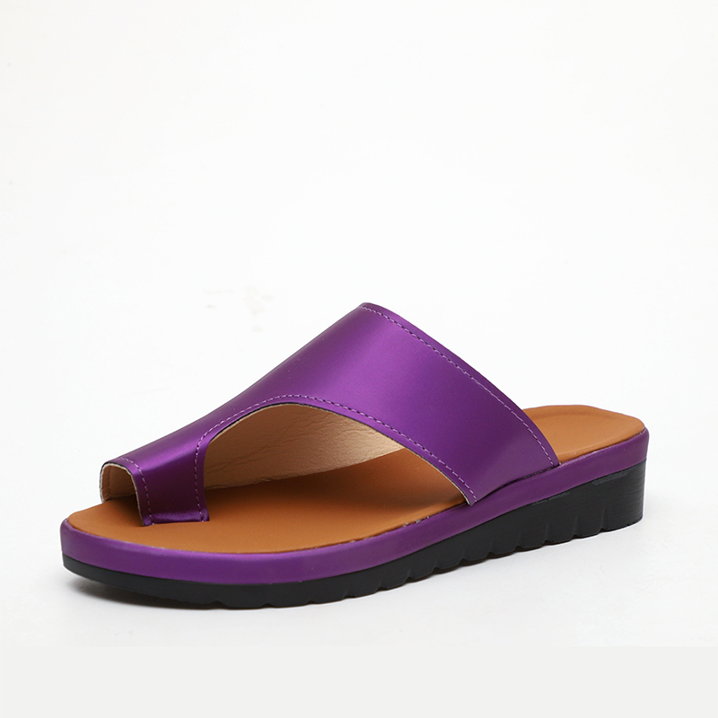 MCCKLE Women Comfy Plain Sandals