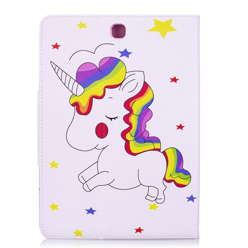 Case For Samsung Galaxy Tab A 9.7 T550 T555 Unicorn Pu Leather Wallet Card Stand Cover Case For Samsung T550 Tablet Case