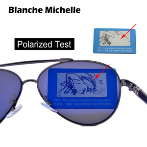 Image 5 - Blanche Michelle Pilot Polarized Sunglasses Men 2020 Brand Mirror Sun Glasses Driving UV400 Alloy Gafas De Sol Oculos With Box