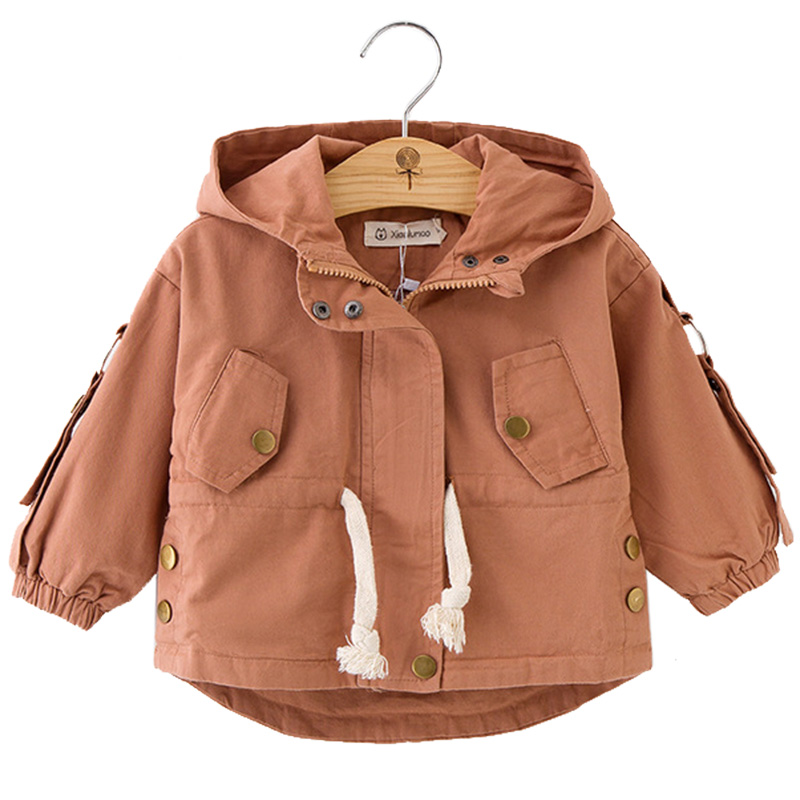 New Spring Autumn Girls Hooded Jackets Coats Baby Windbreaker Outerwear For Toddler Girl Clothes Kids Jacket Children Clothing