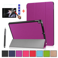 Case Cover Shockproof For Microsoft Surface Pro 6 12.3 Ultra thin Folding PU Leather Protective shell + Tempered Glass+Pen
