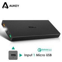 Carregador de Bateria Móvel para Xiaomi Aukey 16000 MAH Carregamento Rápido Banco de Potência 3.0 Dual USB Externo Portátil Meizu Iphone