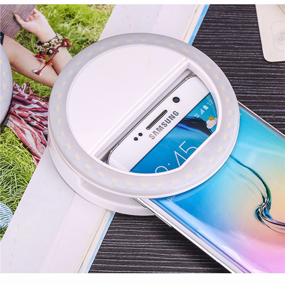 36Pcs LED Makeup Mirror for Mobile Phones LED Lighted Cosmetic Professional flash Newest LED fill light Photo fill light Tools in Makeup Mirrors from Beauty Health