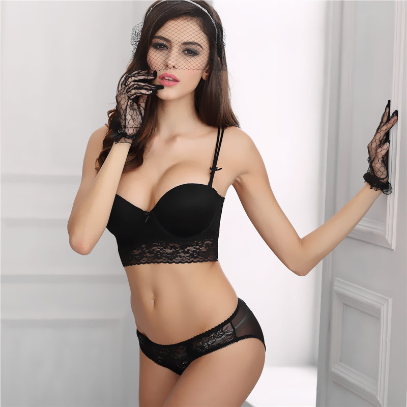 Women's underwear bra set sexy lingerie lace slim underwear set transparent lingerie female set brassiere clothes women