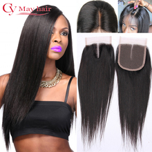 7A Brazilian Virgin Hair Closure Straight Middle Part Bleached Knots 4×4 Inch Swiss Lace Top Closures Brazilian Straight Closure