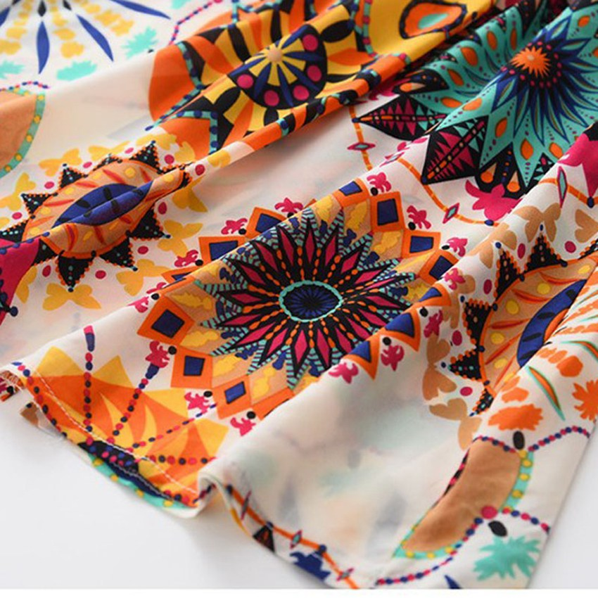 Belababy Girl Dress Brand Fashion 2017 Boho Beach Dress Kids Casual Floral Dress Layered Petal Sleeve Folk Girls Clothing