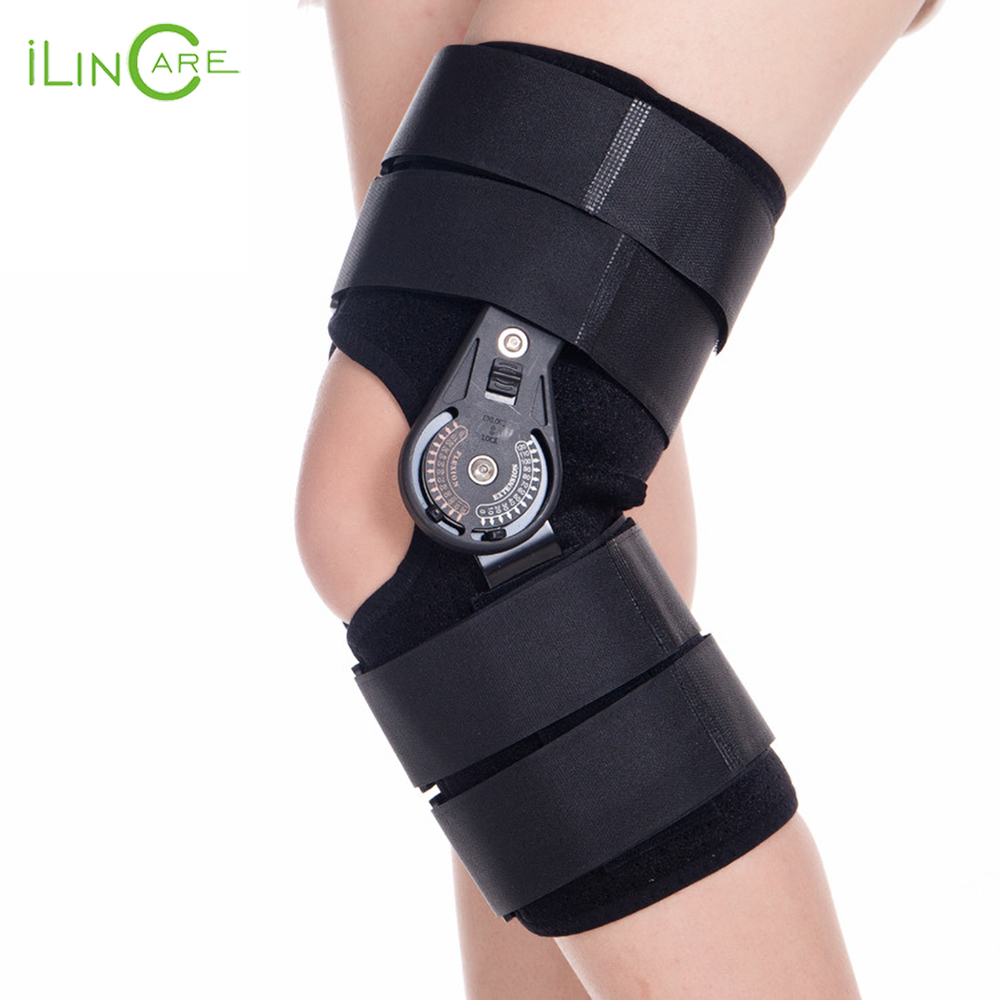 Adjustable Medical Hinged Knee Orthosis Brace Support Ligament Sport Injury Orthopedic Splint Osteoarthritis Knee Pain Pads-in Braces & Supports from Beauty & Health    1