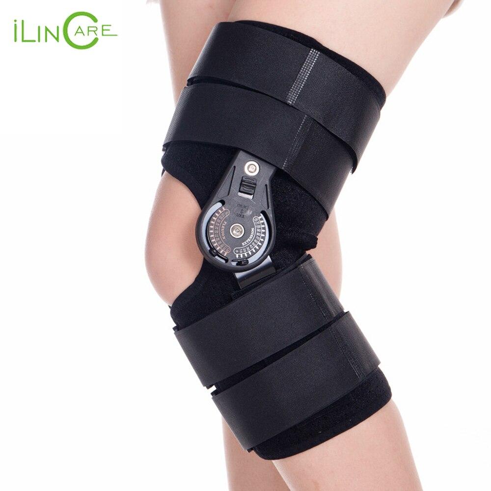 Adjustable Medical Hinged Knee Orthosis Brace Support Ligament Sport Injury Orthopedic Splint Osteoarthritis Knee Pain Pads