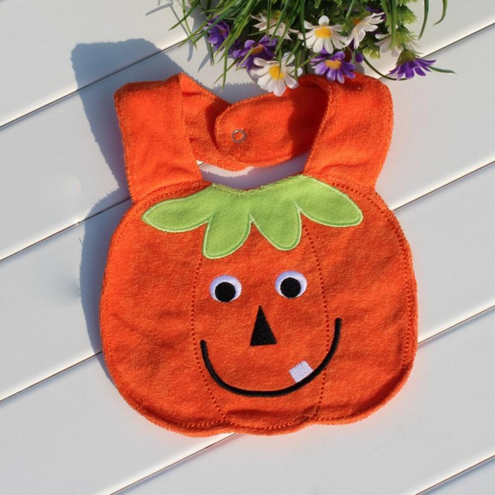 Pumpkin Form Soft Baby Bibs