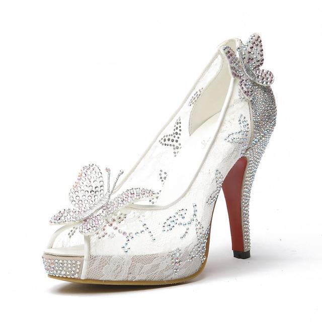 2015New Limited Cinderella Glass Slipper sandals 5986ba6f6eea