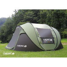 цена на New Arrival 3-4 Person Use Ultralarge Pop Up Automatic Quick Open Beach Tent Large Gazebo Camping Tent