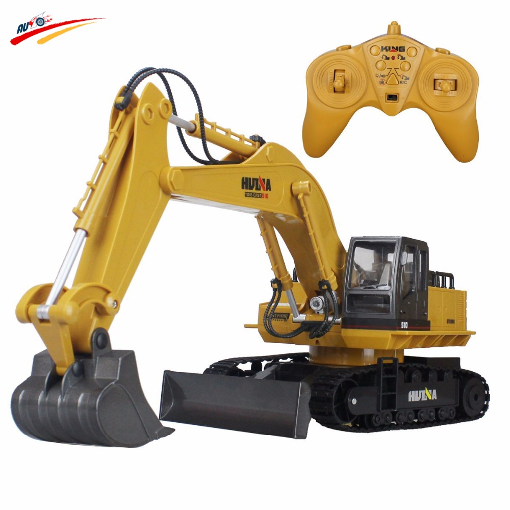 RC Truck 11CH Excavator Alloy 2.4G Backhoes Bulldozer Remote Control Digger Engineering Vehicle Model Electronic Kids Hobby Toys rc excavator 15ch 2 4g remote control constructing truck crawler digger model electronic engineering truck toy радиоуправляемые ма