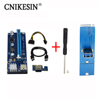 VER006C Blue 1x To 16x PCI Express Riser Card PCI E Extender 60cm USB 3 0