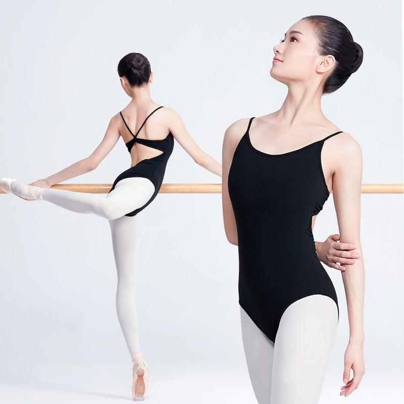 Woman Ballet Leotard Adult Ballet Clothing Gymnastics Leotard For Dance Black Strap Leotards For Women