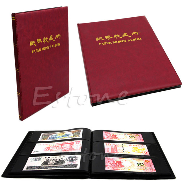 60pcs Paper Money Note Holders Collection Collecting Storage Pockets Album Book New