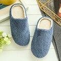 2 Colores Nueva Moda de Suela Suave Otoño Invierno Cálido Hogar de Algodón para Hombre Zapatillas De Felpa Interior \ Piso Zapatos Niños regalo