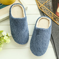 2 Colors New Fashion Soft Sole Autumn Winter Warm Home Cotton Plush Slippers Men Indoor\ Floor Flat Shoes Boys Gift