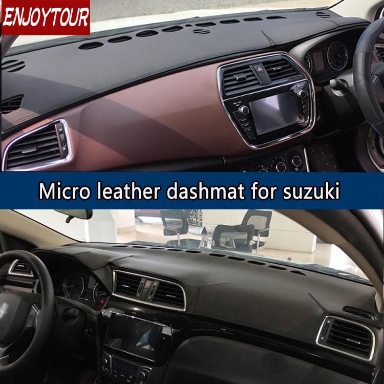 For Suzuki Alivio/Ciaz SX4 S-Cross Neo Baleno Leather Dashmat Dashboard Cover Prevent Sunlight Pad Dash Mat