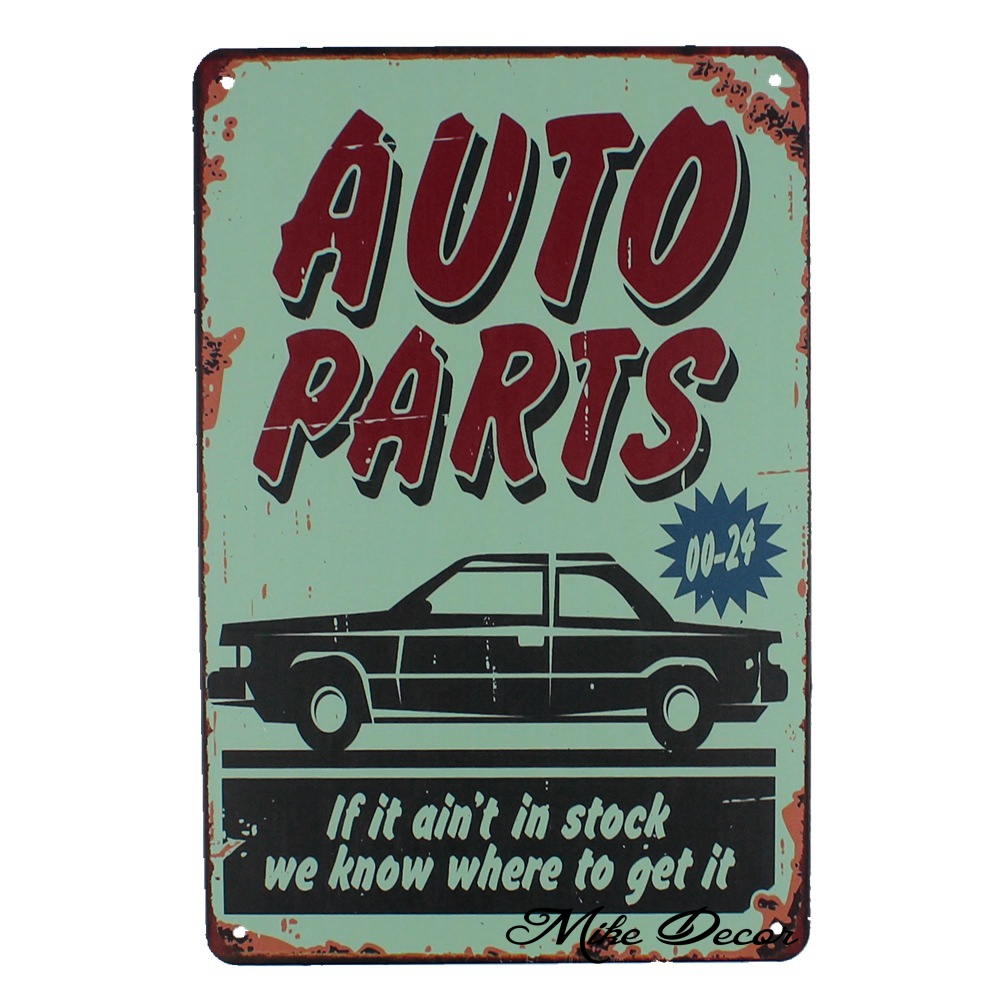 [ Mike86 ] AUTO PARTS Garage Service Metal Plaque Room Art Painting Antique Bar Room Car Home Tin Sign Decor 20X30 CM AA-1060