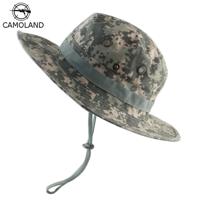 5cb7ac3cfc61b 2018 New Men Bucket Hats Tactical Airsoft Sniper Camouflage Nepalese Cap  Army Mens Outdoor Boonie Hat Fishing Hiking Sun Hats