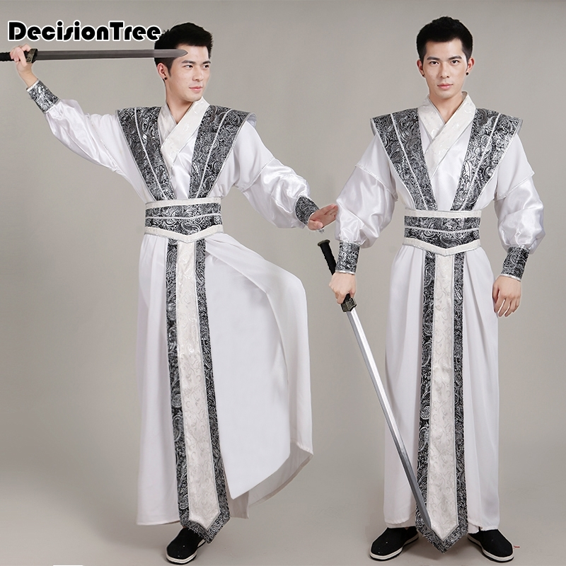 2019 summer Chinese National Hanfu Costume for Men Tang Dynasty Suit Hanfu Cosplay Ancient Costume Photography Stage Clothes