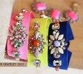 Moda fluorescência cor pulseira para mulheres jóias de fábrica