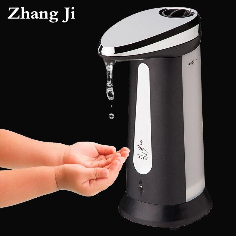 400 мл ABS гальваническим автоматический Дозаторы жидкого мыла для Кухня Ванная комната Smart Сенсор бесконтактная дезинфицирующее dispensador zj118