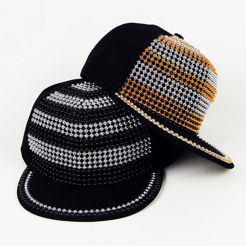Cool Bigbang Jazz Studded Baseball Hat Hip Hop Gorras Planas Rivet - Аксесоари за облекла - Снимка 1