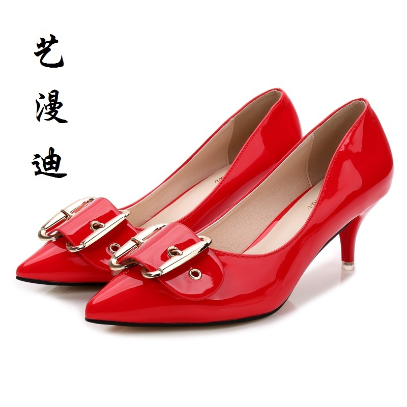 2017 Small Size 31-43 Belt decoration Red Sexy Thin High Heels Women Pumps Ladies Shoes Woman Chaussure Femme Talon Mariage 2017 size 31 43 red sexy high heels women pumps ladies shoes woman wedding shoes chaussure femme talon black white 32 33 34 42