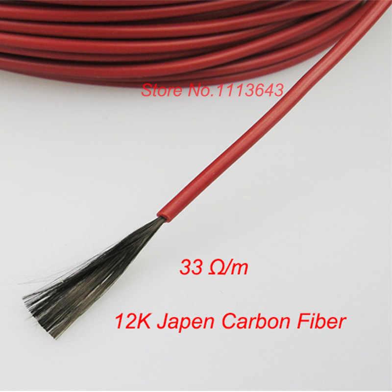 MINCO chauffer 10 à 100 mètres 12K câble chauffant chaud 33ohm/m fils chauffants en Fiber de carbone
