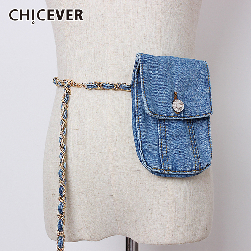 CHICEVER Korean High Waist Chain Patchwork Belt Female Vintage Dresses Accessories Belts For Women 2019 Fashion New Summer