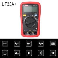 Digital Multimeter UNIT DC/AC Voltage Current Meter Handheld Ammeter Diode Capacitance Tester 1999 Counts Multitester UT33A+
