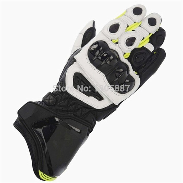 Free shipping 2016 GP PRO Motorcycle Genuine Leather Long Gloves MotoGP M1 Racing Gloves GP PRO Motorbike Cowhide Gloves