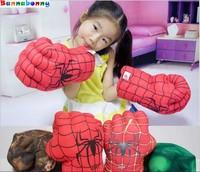 28 см Мстители невероятный супергероя рисунок человек паук туши ИГРУШКИ БОКС Прихватки для мангала дети мальчик подарок Халк Прихватки для ...