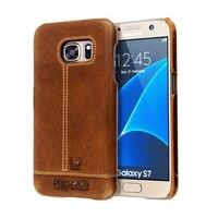 Fashion Retro For Samsung Galaxy S7 Genuine Leather Back Cover Case For Samsung S7 Cover Case