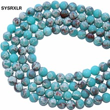 Wholesale Natural Green Sea Sediment Jaspers Beads Jewelry Making Imperial Stone Bead Supplies For 6/8/10 MM