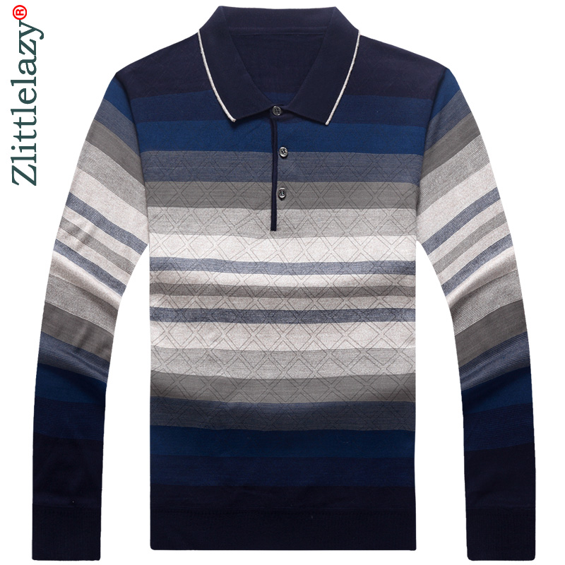 2019 brand long sleeve fitness   polo   shirt men camisa masculino casual striped   polos   shirts mens poloshirt clothing jersey 2767