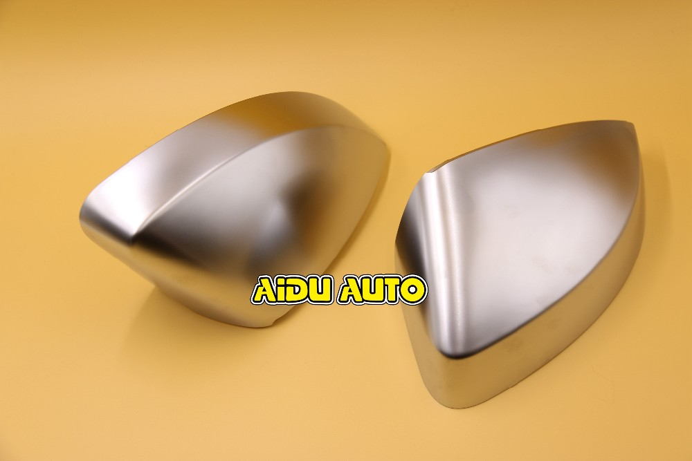 1 pair For Audi A3 S3  8V matt Silver chrome aluminum Satin finish mirror case rear view mirror cover shell genuine 1set chrome window mirror trunk switch button combo for audi a6 a7 c7 q3 4g0 959 851 b 4gd 959 565 a