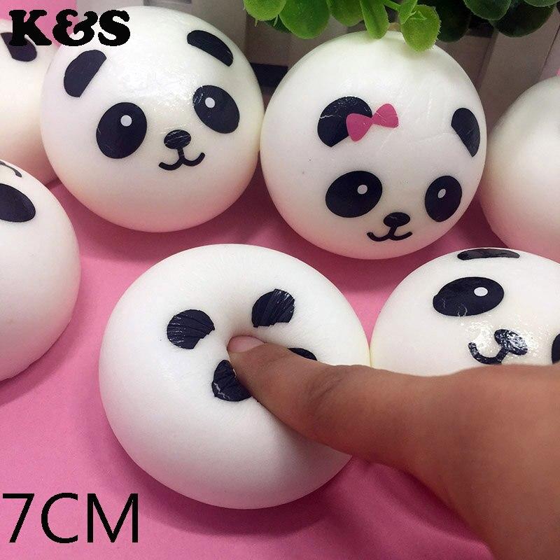 Panda Bun Squishy Supplier : Aliexpress.com : Buy 7CM Cute Soft Panda Face Buns Squishy Kawaii Pendants Food Squishies ...